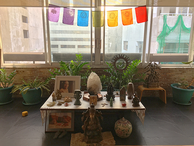 The altar of Stillpoint yoga studio
