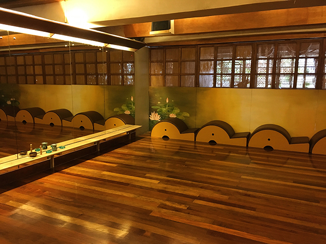 Wooden flooring in One Yoga studio