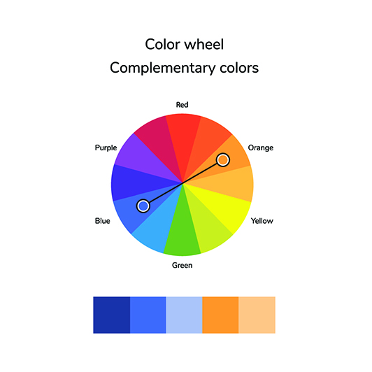 Orange & Blue Color Wheel