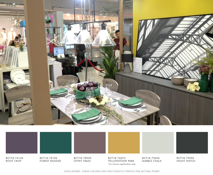 Color Trend 2018 Comes Alive in the SM Home Room Sets