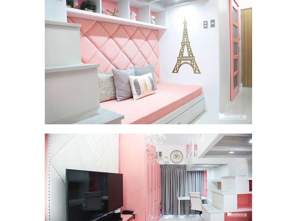 A College Student's Pretty Pink Condo