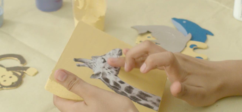 painting idea using découpage