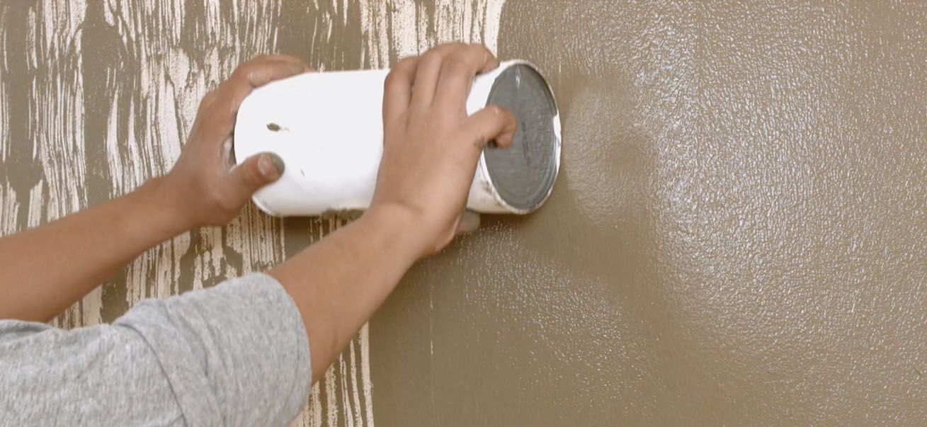 DIY Faux Wood Texture Wall | Krafty Kriz