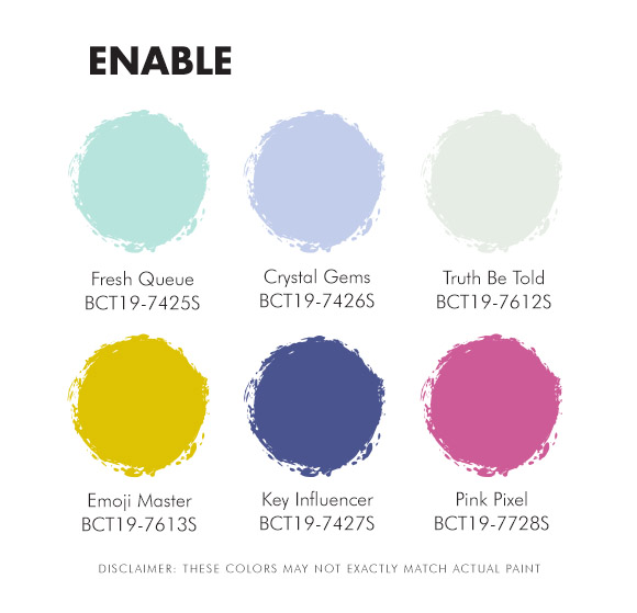 ENABLE Color Palette in Boysen Color Trend 2019