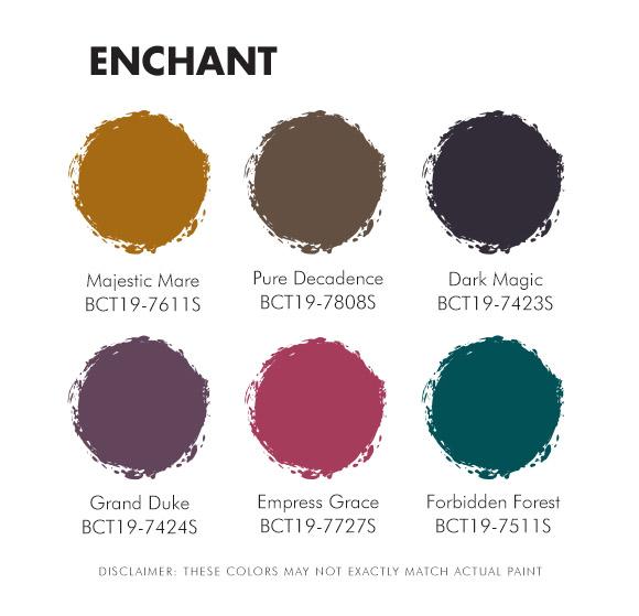 Color Trend 2019 Enchant Palette