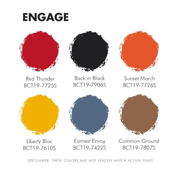 Color Trend 2019 Engage Palette