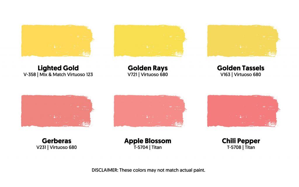Boysen Closest Color Match for Spongebob and Patrick Pantone