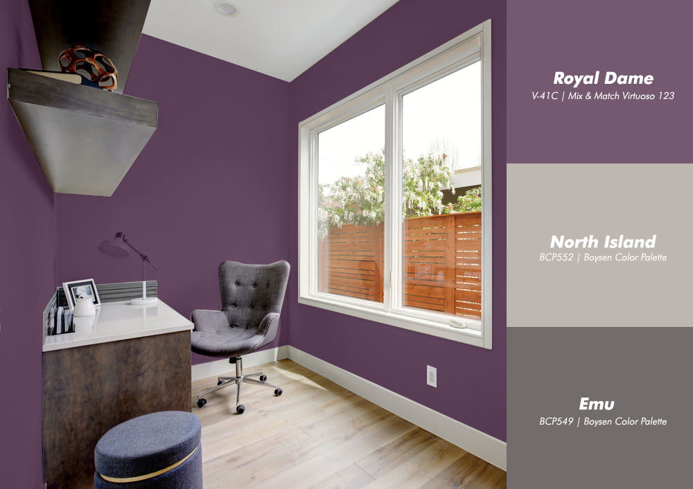 Violet Office Room with Boysen Color Palette