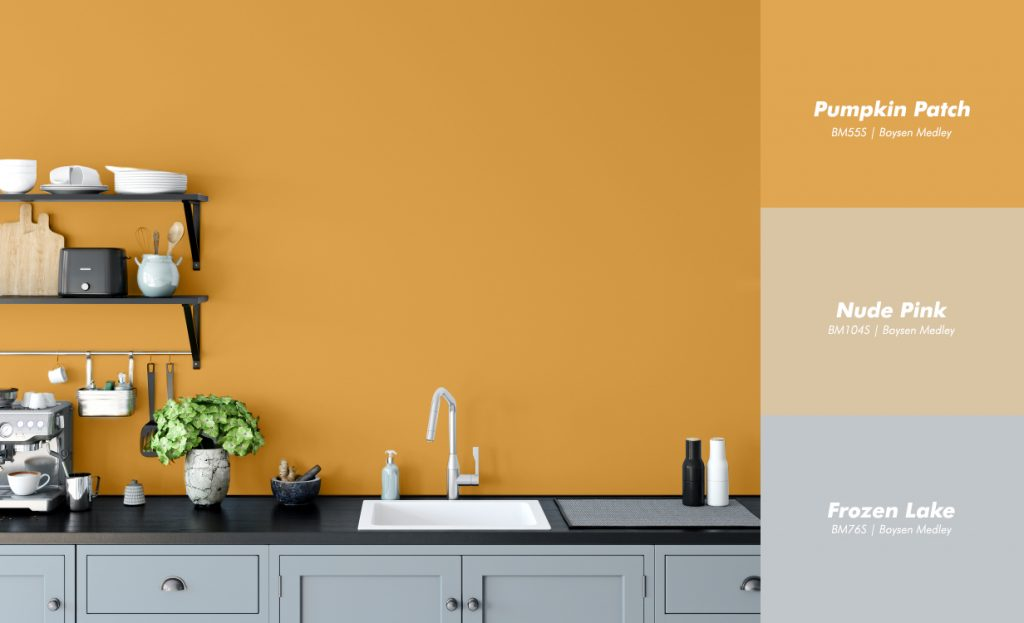 Orange Kitchen Interior with Boysen Color Palette