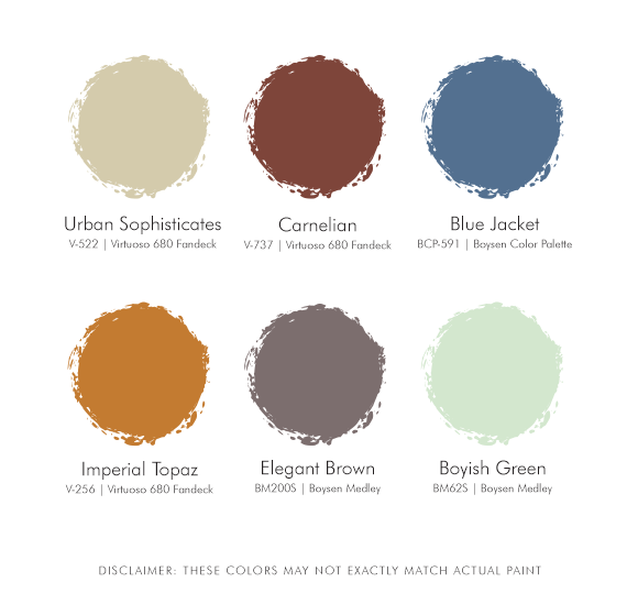 Classic Rustic Suggested Palette