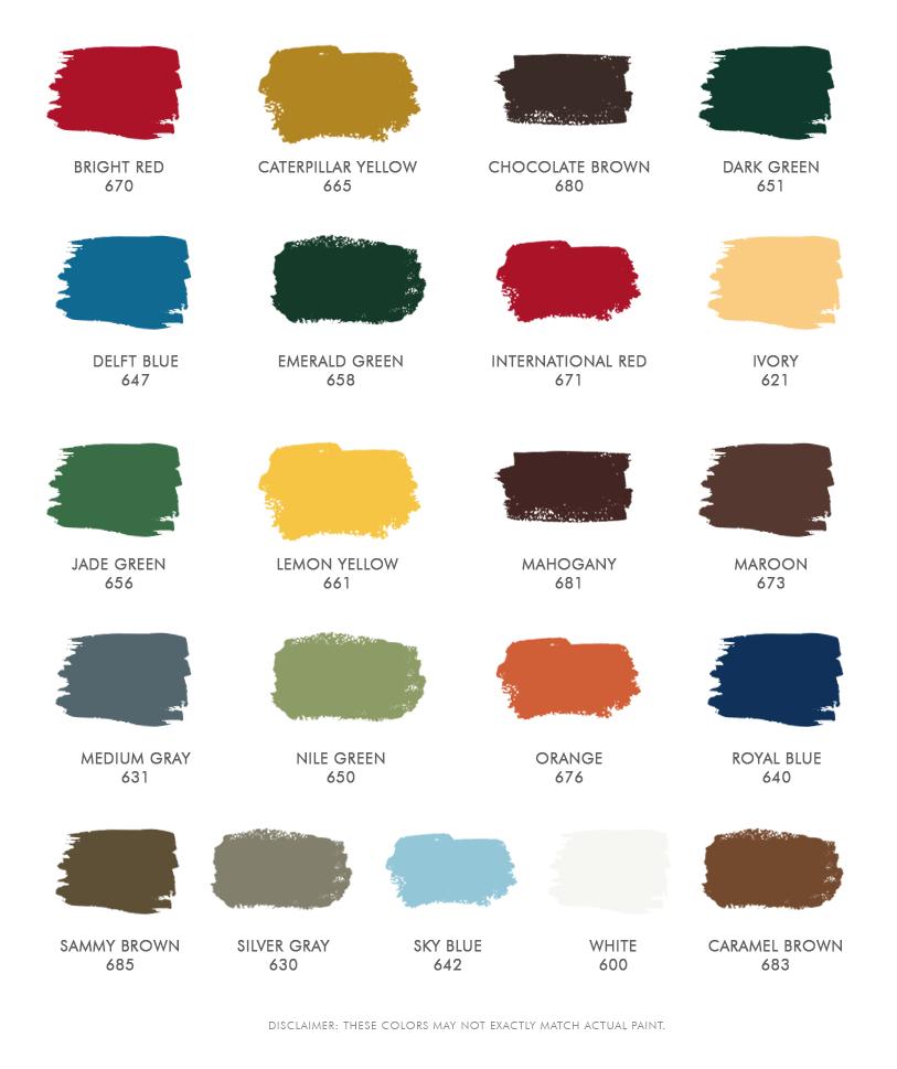 Boysen Quick Drying Enamel Colors