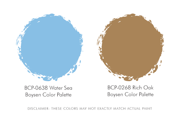 Boysen Palette blue and brown