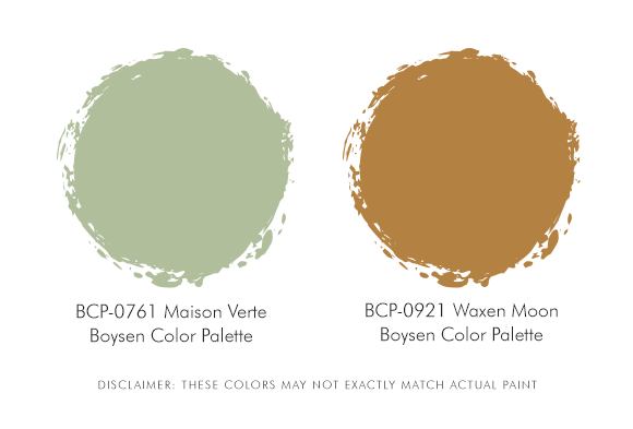 Boysen Palette Green and brown