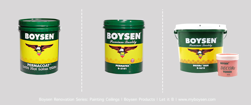 Boysen Topcoat Paints for Ceilings