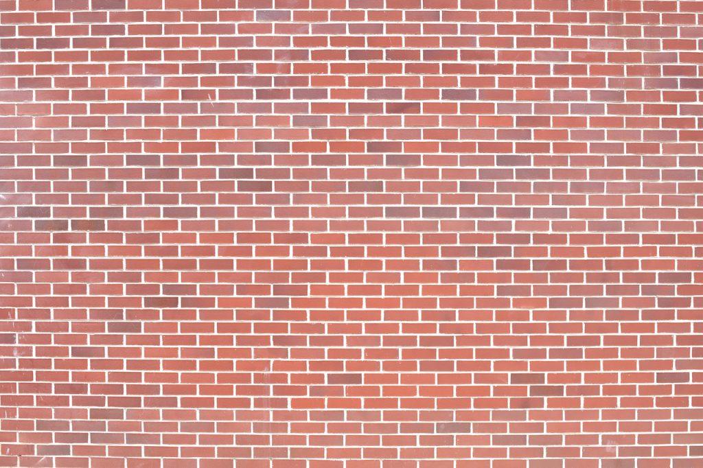 Painted brick design