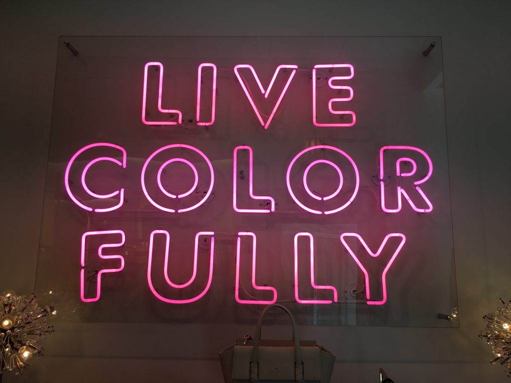 letter in neon light