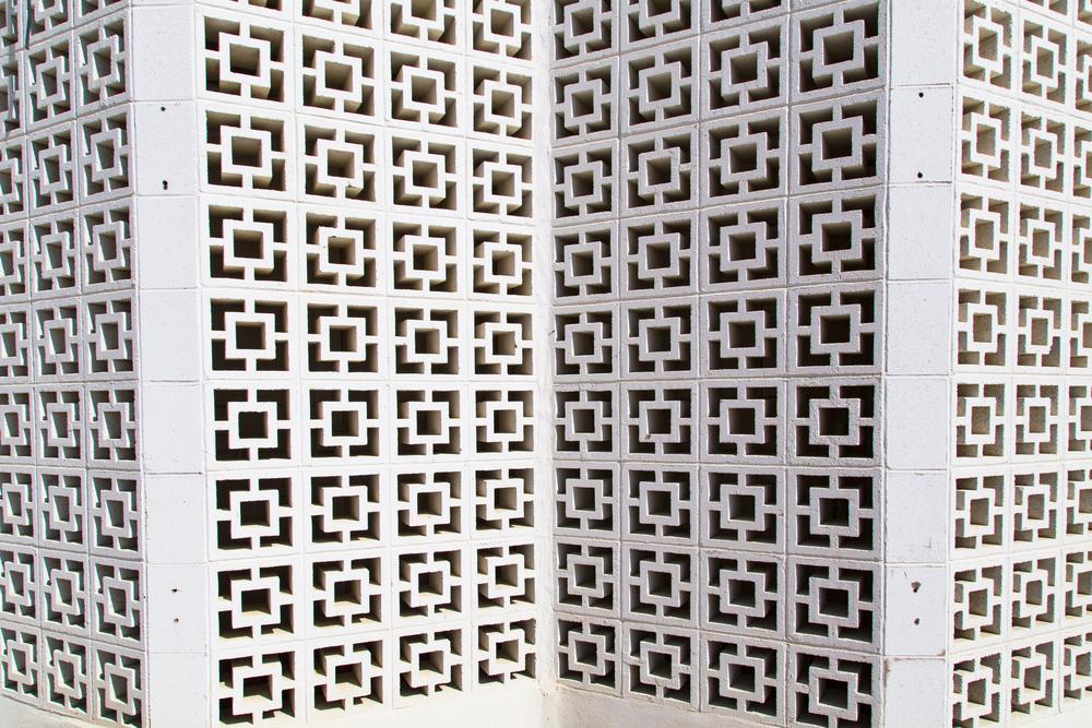 geometric concrete blocks decorative cinder build