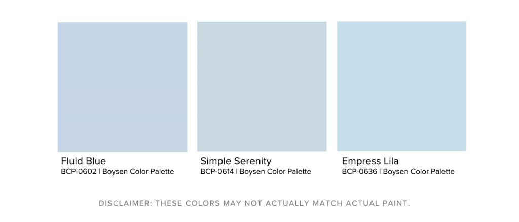 Home Office Paint Colors - Boysen Light Blue Palette