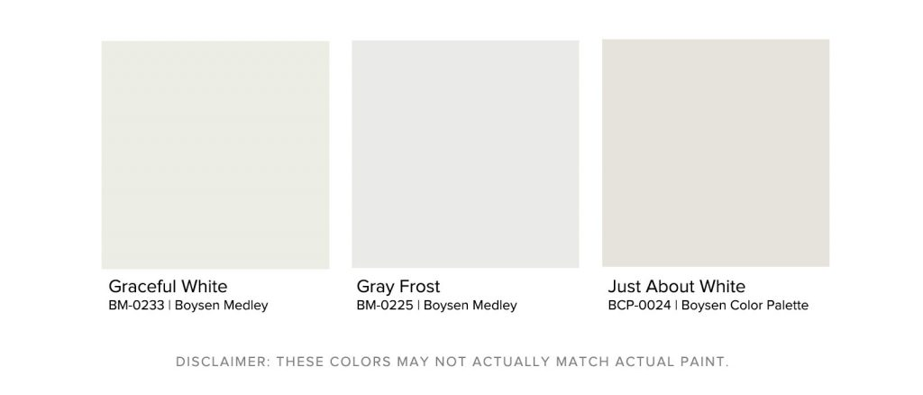 Home Office Paint Colors - Boysen Off White Palette
