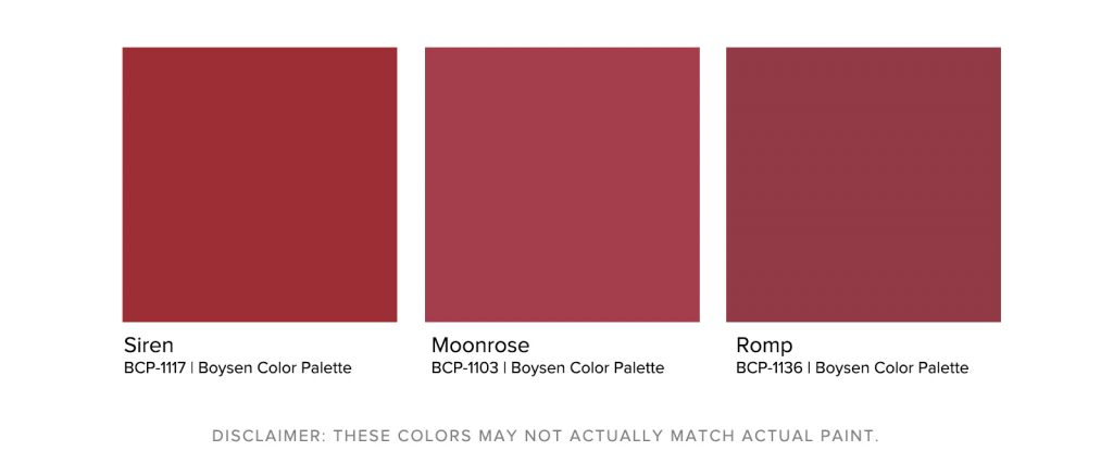 Home Office Paint Colors - Boysen Wine Red Palette