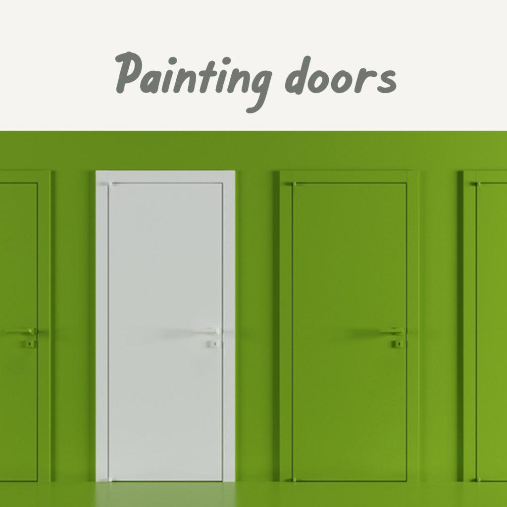 Boysen Tutorials: How to Paint Your Condo | Painting doors