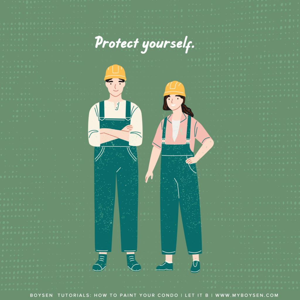 Boysen Tutorials: How to Paint Your Condo | Prepare yourself.