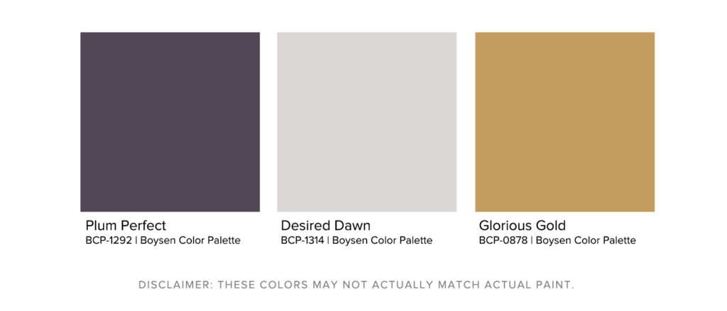 How To Maximize Your Room's Paint Color - Deep Purple Palette - Boysen Color Palette