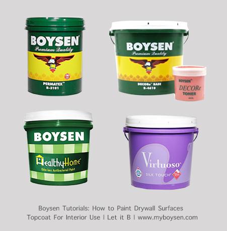 Boysen Topcoats for Interior Use