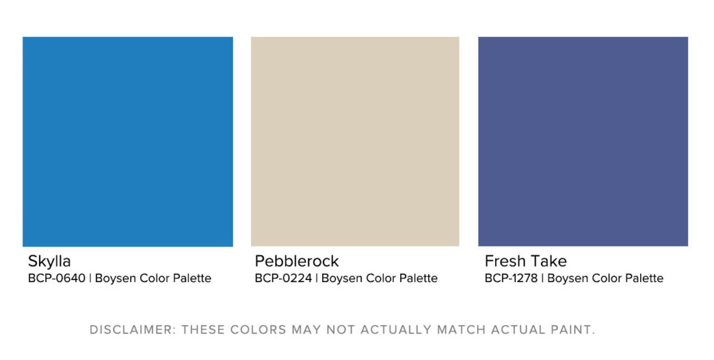Matching Exterior House Paint Designs to Landscapes - The Rocky Coast Boysen Color Palette
