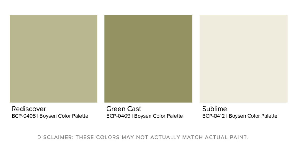 Matching Exterior House Paint Designs to Landscapes Tropical Forest Boysen Color Palette