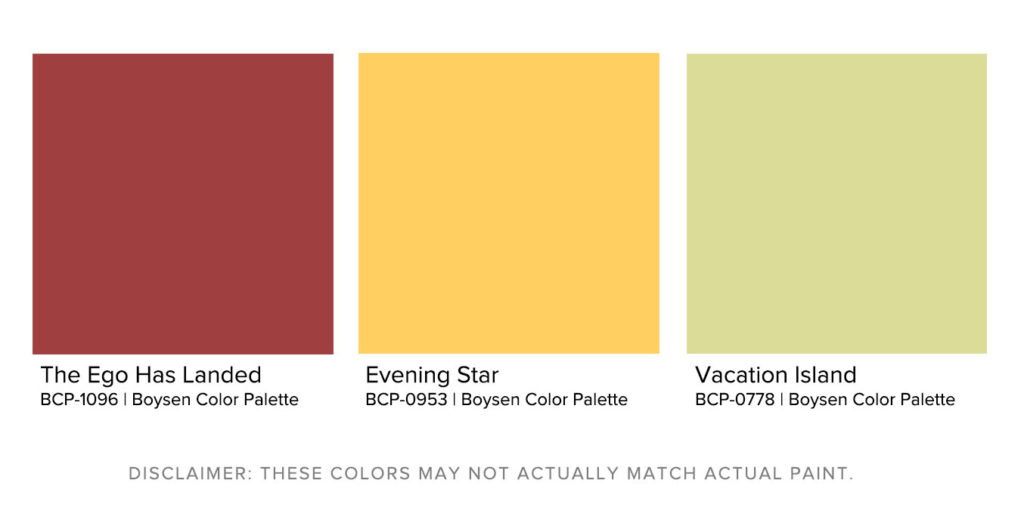 Matching Exterior House Paint Designs to Landscapes Warm Against Cool Boysen Color Palette