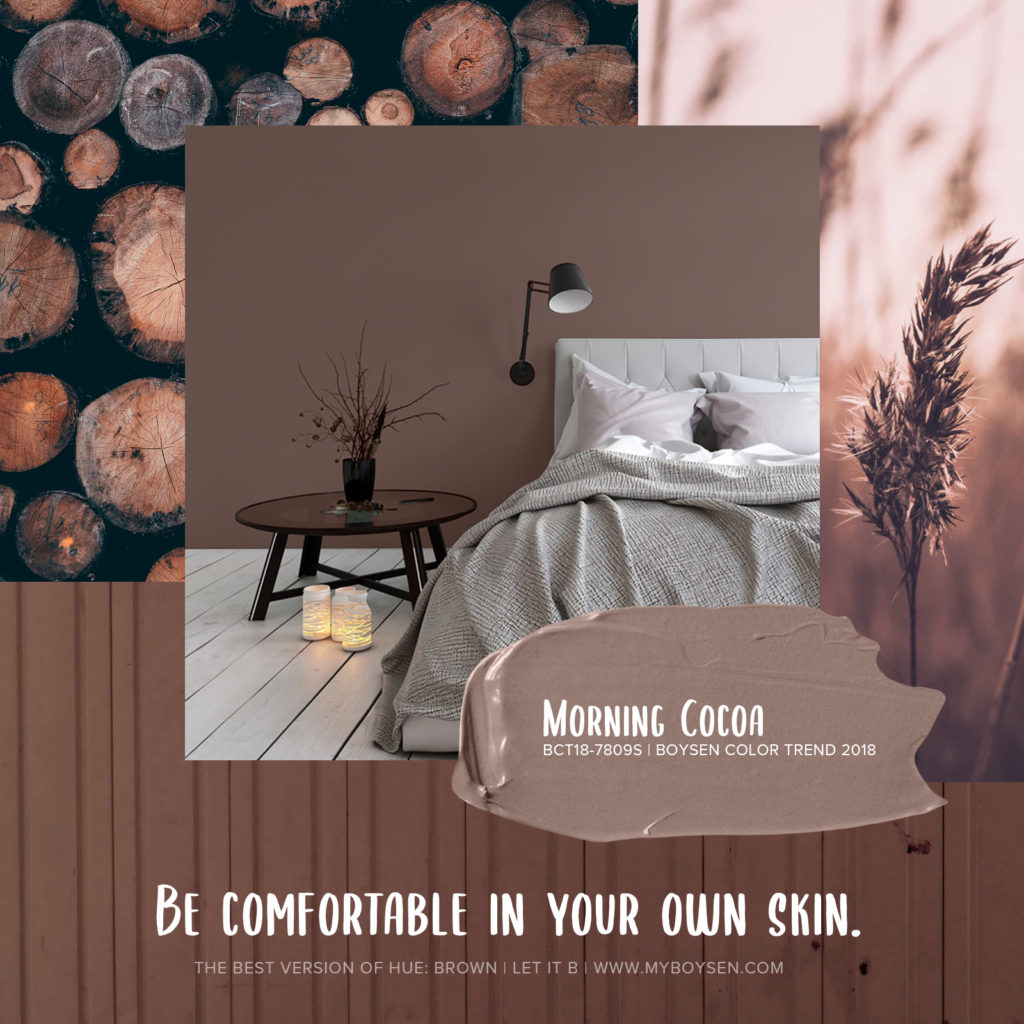 The Best Version of Hue: Brown | Morning Cocoa | Boysen Color Trend 2018