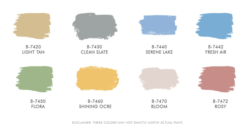 Boysen Healthy Home Standard Colors