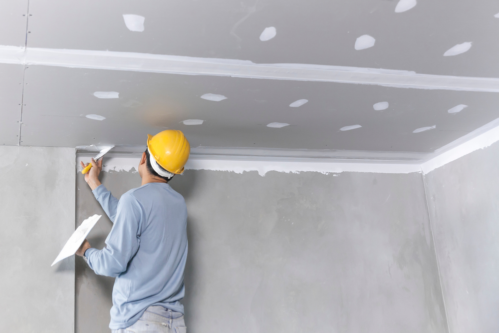 Drywalls used for ceiling and walls