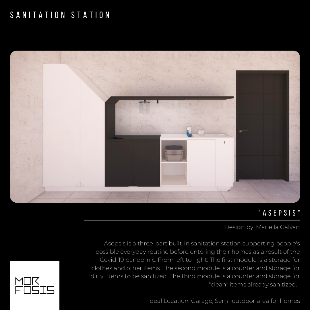 Homebound: Sanitation Stations for Interiors in a Post-Covid World