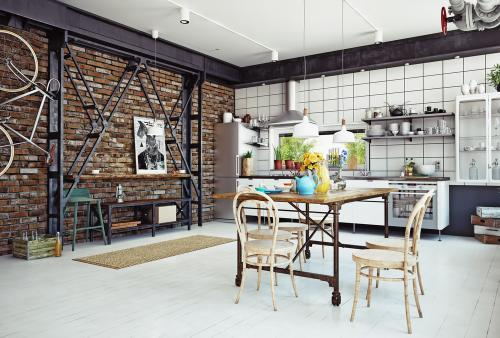 Exposed pipes in furnishings